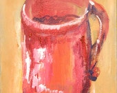 Paper Cards-All occasion- Blank cards-Red Cup-Coffee Cup-Original Art by DiReichertsArt