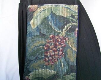 Vineyard Tapestry POCKET PURSE Crossbody Shoulder Bag Passport Boho French Chic Large Phone Bag