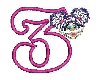 Abby Cadabby Applique, Embroidery Design, Sesame Street Design (221) Instant Download