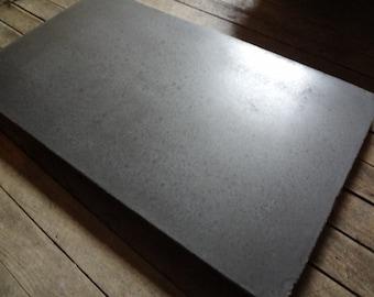 Concrete serving tray