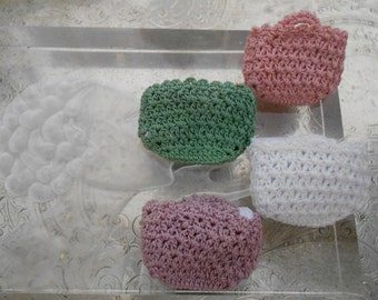 Tiny Hand Crocheted Baskets