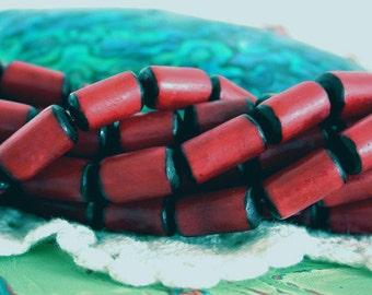 Red Buri Beads, Buri Nut Beads, Buri Seed Beads, Natural Buri Nut Beads, Buri Palm Nut Beads  NAT-195