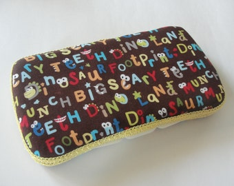 Baby Wipes Case, Travel Wipes Case with Crazy Letter Print