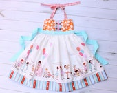 Elephants on Parade/ Cirus Halter 'Ellie' Dress 6 months to 6T