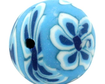 10 Polymer Clay Beads - Flowers - 12mm - Ships IMMEDIATELY from California - B795