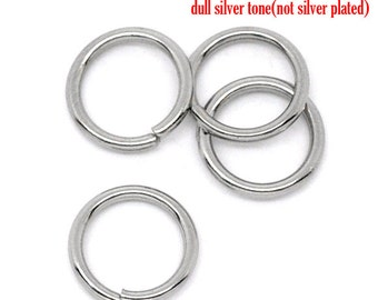 500 Stainless Steel Open Jump Rings - WHOLESALE - 8mm - 1mm Thick - 18 Gauge - Ships IMMEDIATELY  from California - F104a