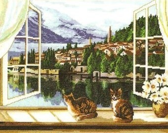Instant Download Counted Cross Stitch Chart PDF Pattern N69ld - View of the Bay