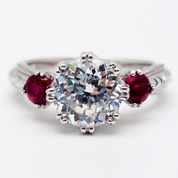 tacori deco sterling silver 925 engagement by