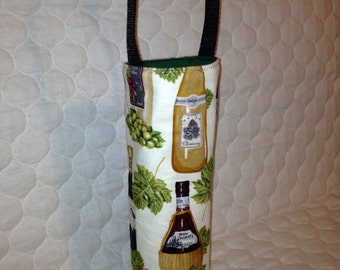 Padded wine tote carrier bag