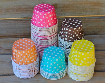 MINI Polka Dot Candy/Baking Cups- You Pick Your Color