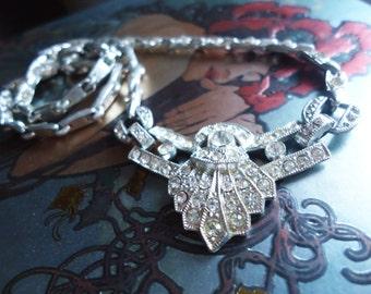 1930s Deco Rhinestone Necklace