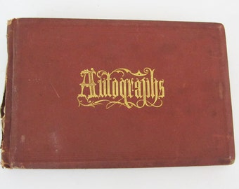 19th Century American New England Autograph Book ON SALE Final Price