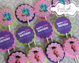 Monster Inc Cupcake Tops