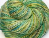 Hand Dyed Fingering/Sock Sparkle Yarn, Superwash Merino Wool/Nylon/Stellina, It's Bigger on the Inside