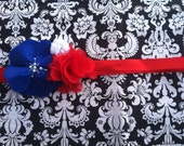 Red, White, and Blue Maternity Sash