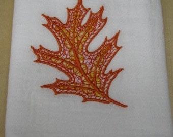 Delicate Orange Leaf Towel - EXTRA STOCK