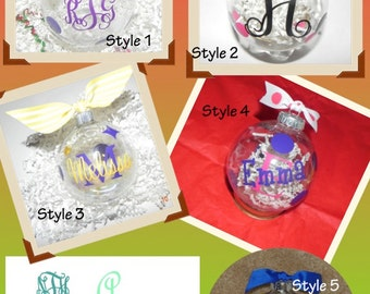 Shatterproof Personalized Christmas Ornament Free Shipping