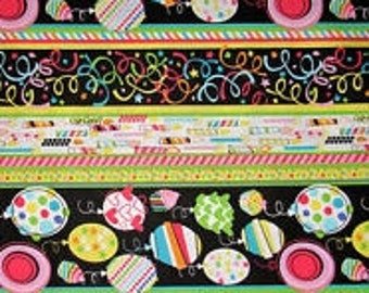 Balloons, Birthday Party Fabric, Candle Fabric, Balloon Fabric, Birthday Favors, 01907