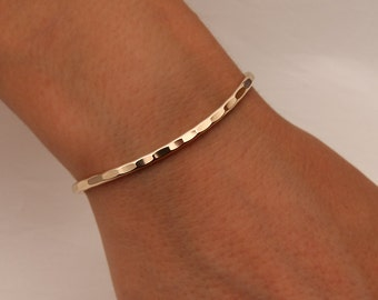 Hammered Cuff Bracelet, Yellow Gold Filled (351.ygf)