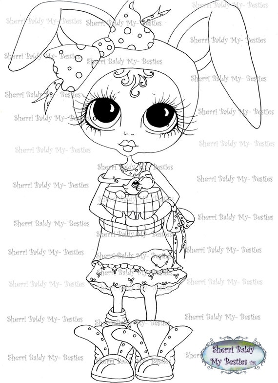 INSTANT DOWNLOAD Digital Digi Stamps Big Eye Big Head Dolls Messy Bessy img249 My Besties By Sherri Baldy