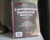 Postcard Sleeves Post Card 2 Mil Polypropylene No PVC New in Package Continental 4-3/8 X 6-1/4 QTY: 100
