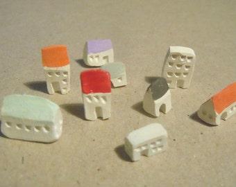 Modern city miniature