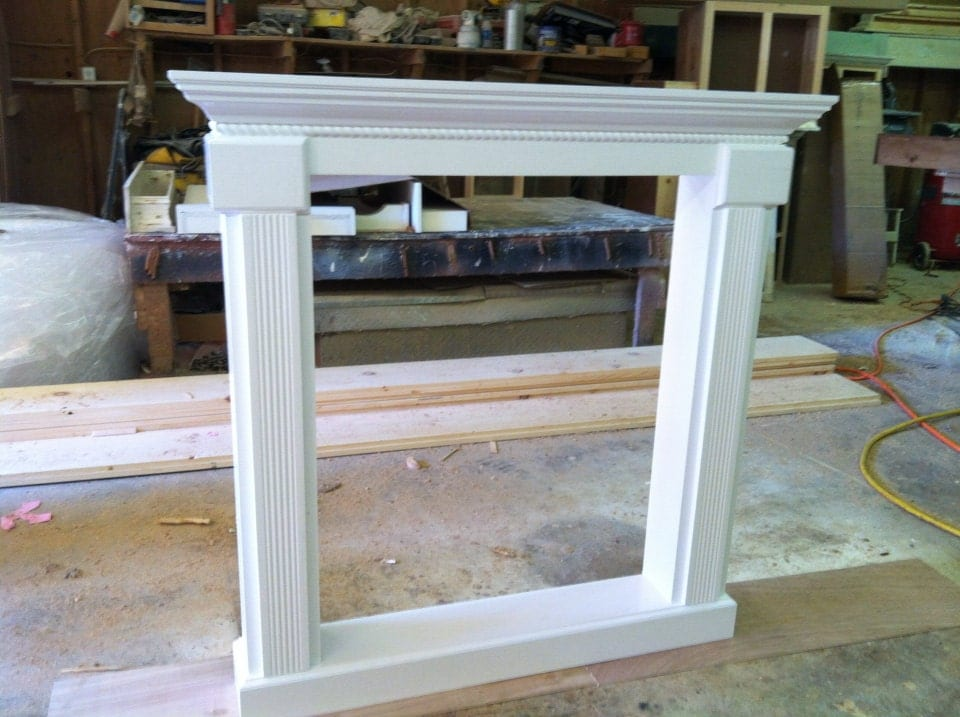 Full Fireplace mantel shelf custom faux by RaysCustomWoodwork