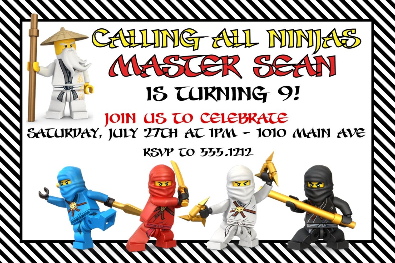 Ninja Birthday Invitations for amazing invitations ideas