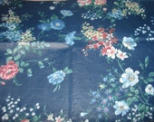 "Decorators Blue Floral Chintz 3 1/4 yd x 44"""