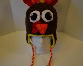 Children's Turkey Hat with Ear Flaps