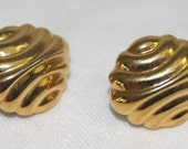Vintage Tri Fari Gold Colored Post Earrings
