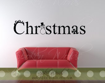 """Christmas Vinyl Wall Large Decal....Your choice of color"""""""