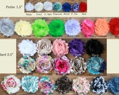 10 Shabby Rose Flower on Hair Clip, OVER 40 Flower choices:  PLUS, All proceeds go to kids' college fund