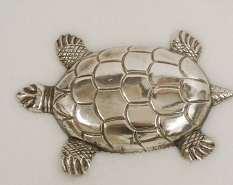 STERLING TURTLE PIN