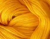 Hand Dyed Alpaca Yarn in Calendula Finger Wt 250 yds/50 gr