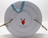 Snowman Shapped Christmas Handmade Card - BeingACreativeMom