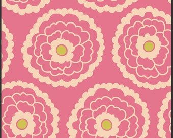 Art Gallery Fabric - Carnaby Collection - Girl About Town Rose - Patricia Bravo-Choose Your Cut 1/2 or Full Yard