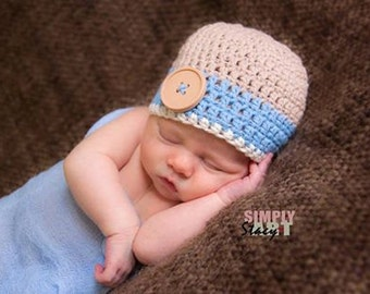 baby hat, baby boy hat, newborn hat, newborn baby hat, newborn boy hat, button hat