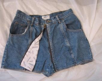 80's Esprit Blue Denim Zip Front Shorts