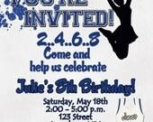 Cheerleading Birthday Party Invitation