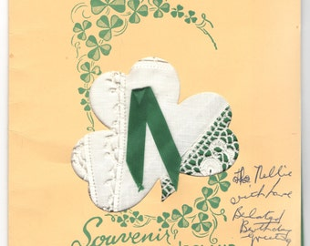 Vintage Irish Linen Handkerchief Crocheted Edging
