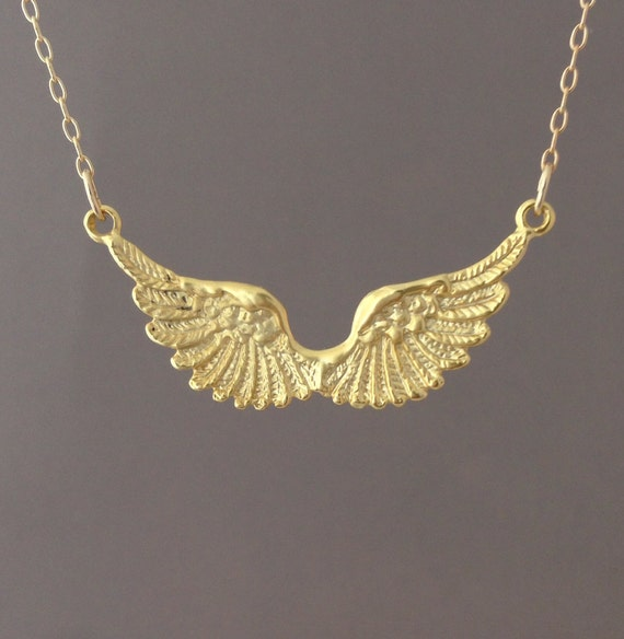 wing necklace comes in gold and silver by jennyandjude