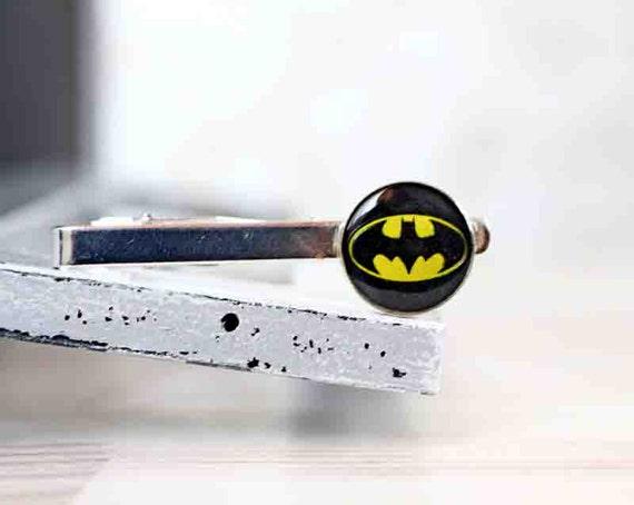 Batman Tie Clip - Sci-Fi Jewelry - Superhero Tie clip - Wedding Gifts for Groomsmen