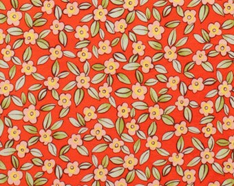 Esprit (Small Flowers) in Red (7831C) by Alexander Henry - Everyday Eden - 1/2 yard