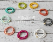 mommy + me bracelet set - choose from 9 colors - custom - gold - beaded *made to order*