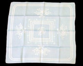 Vintage Reversible Blue and White Linen