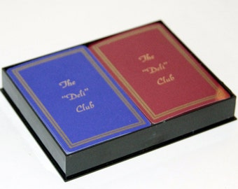 "Vintage Playing Card Set in Original Box from The ""Deli"" Club"
