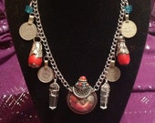 Silver Tibetan bottle necklace