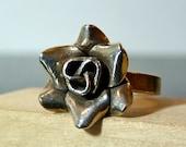ITEM ON HOLD for Shannon - Vintage Silver Elegant Rose Flower Ring