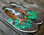Custom Hand Painted Earthy Toms